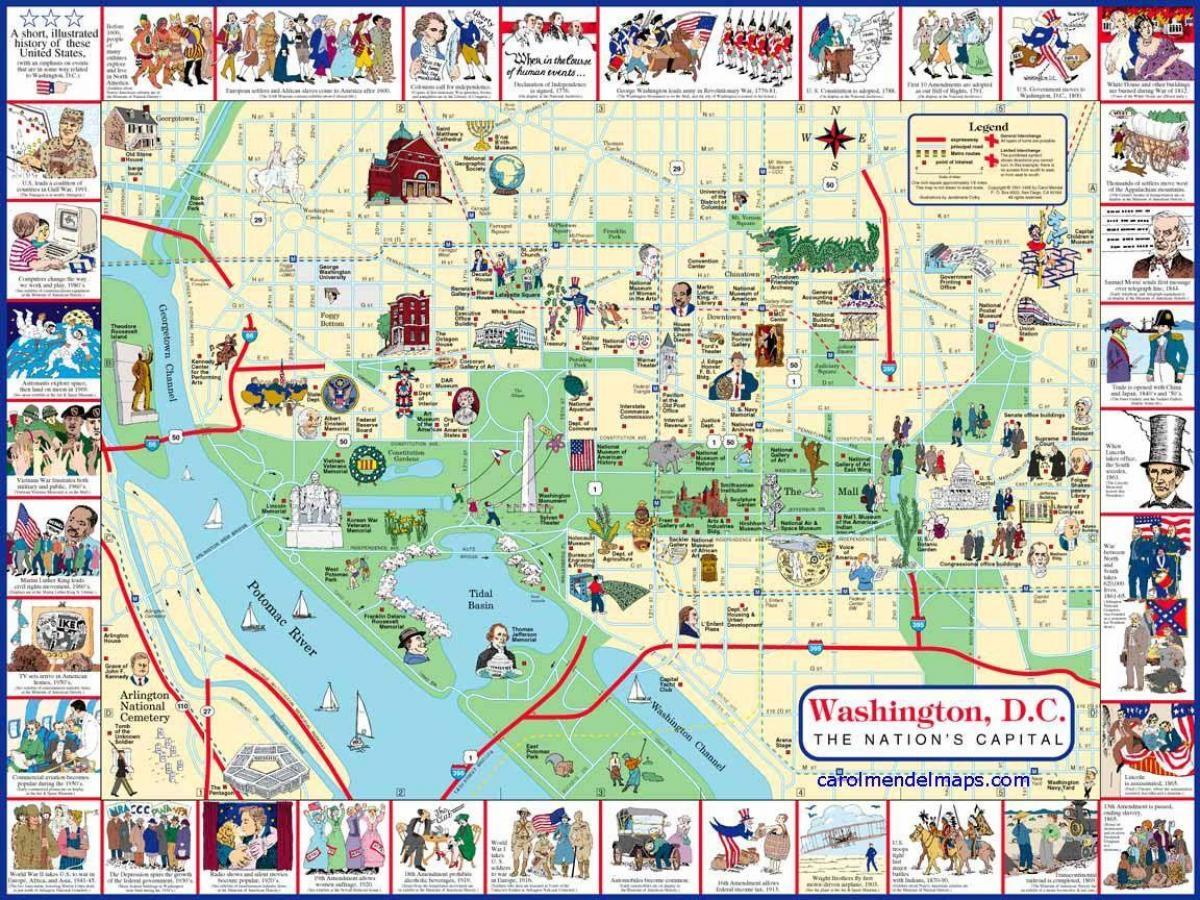 Cartina Washington.Washington Dc Mappa Wa Dc Mappa Distretto Di Columbia Usa